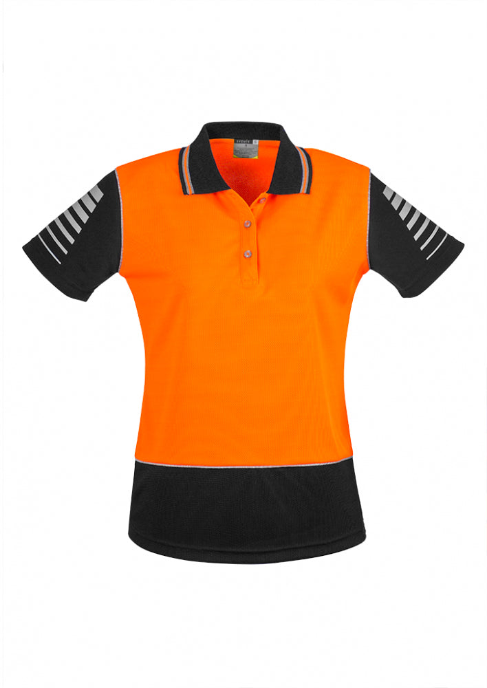 Syzmik-Syzmik Womens Day Only Zone Polo-Orange/Black / 8-Uniform Wholesalers - 3