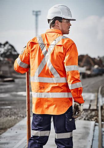 Syzmik ZW690 Mens Hi Vis X Back Taped Shirt (ZW690)