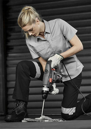 Syzmik Ladies Light Weight Tradie Ladies Shirt - Short Sleeve (ZWL120)