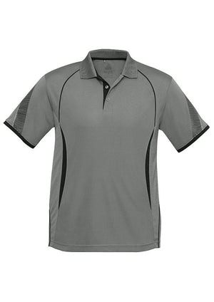 Biz Collection-Biz Collection  Mens Razor Polo-Ash/Black / S-Uniform Wholesalers - 5