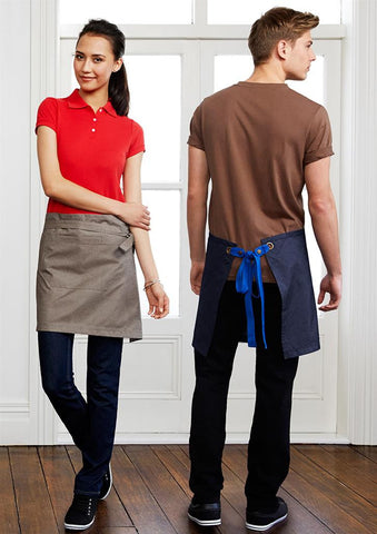 Biz Collection-Biz Collection Unisex Urban 1/2 Waist Apron--Uniform Wholesalers - 1