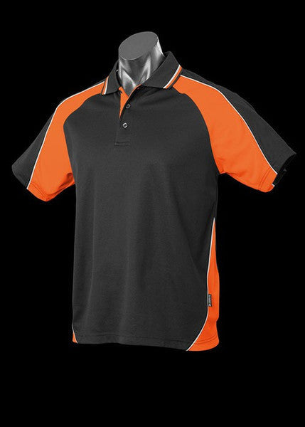 Aussie Pacific-Aussie Pacific Kid's Panorama Polo-Black/Orange/White / 4-Uniform Wholesalers - 4