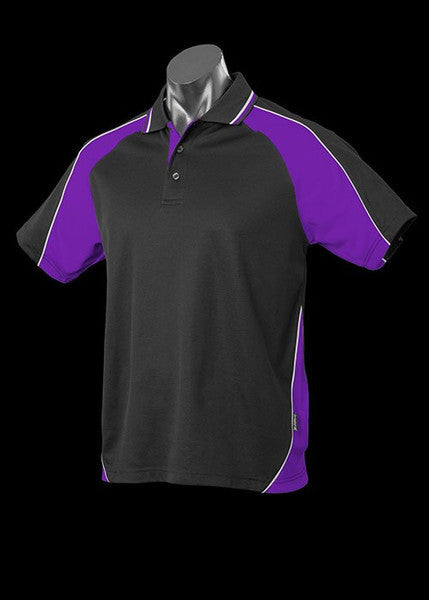 Aussie Pacific-Aussie Pacific Kid's Panorama Polo-Black/Purple/White / 4-Uniform Wholesalers - 5