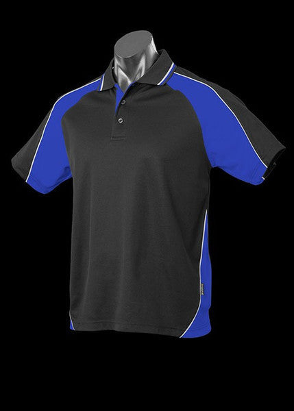 Aussie Pacific-Aussie Pacific Kid's Panorama Polo-Black/Royal/White / 4-Uniform Wholesalers - 8