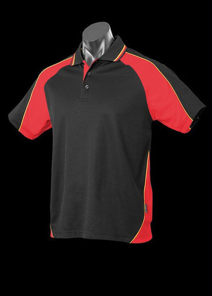 Aussie Pacific-Aussie Pacific Kid's Panorama Polo-Black/Red/Gold / 4-Uniform Wholesalers - 6