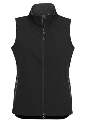 Biz Collection-Biz Collection Ladies Geneva Vest-Black/Graphite / S-Uniform Wholesalers - 4