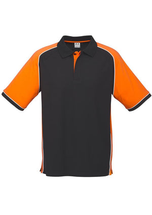 Biz Collection-Biz Collection Mens Nitro Polo-Black / Orange / White / S-Uniform Wholesalers - 3