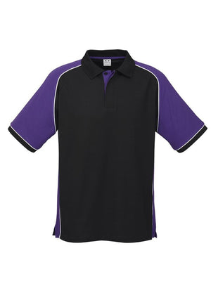 Biz Collection-Biz Collection Mens Nitro Polo-Black / Purple / White / S-Uniform Wholesalers - 6