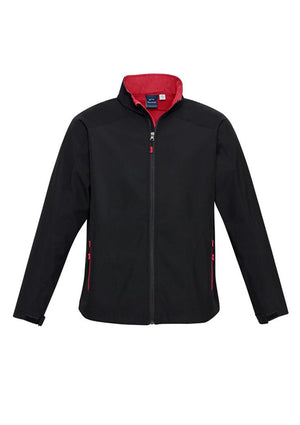 Biz Collection-Biz Collection  Kids Geneva Softshell Jacket-Black/Red / 6-Uniform Wholesalers - 3