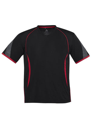 Biz Collection-Biz Collection Mens Razor Tee-Black/Red / S-Uniform Wholesalers - 3