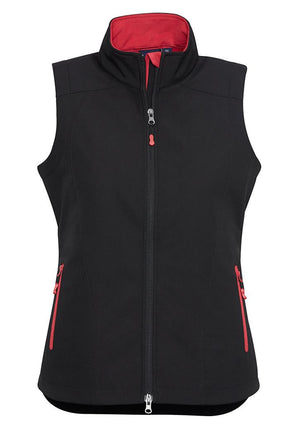 Biz Collection-Biz Collection Ladies Geneva Vest-Black/Red / S-Uniform Wholesalers - 5