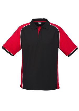 Biz Collection-Biz Collection Mens Nitro Polo-Black / Red / White / S-Uniform Wholesalers - 5