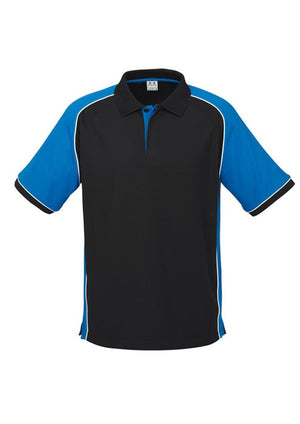Biz Collection-Biz Collection Mens Nitro Polo-Black / Royal / White / S-Uniform Wholesalers - 4