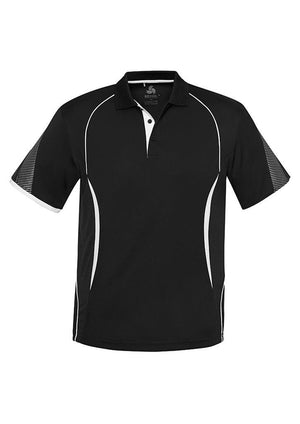 Biz Collection-Biz Collection  Mens Razor Polo-Black/White / S-Uniform Wholesalers - 3
