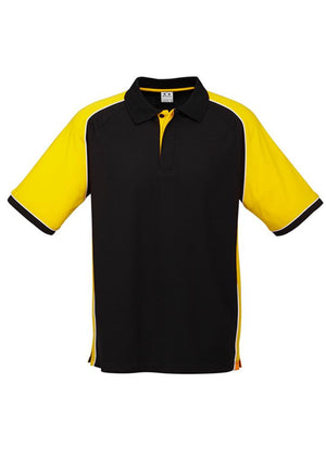 Biz Collection-Biz Collection Mens Nitro Polo-Black / Yellow / White / S-Uniform Wholesalers - 9