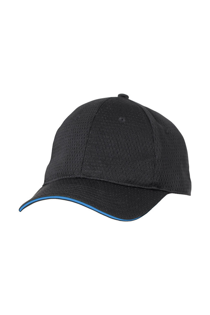 Chef Works-Chef Works Cool Vent Baseball Cap w/ Trim-One size / Blue-Uniform Wholesalers - 1