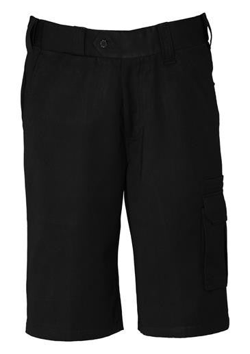 Biz Collection-Biz Collection Mens Detroit Short Stout-Black / 87-Uniform Wholesalers - 1