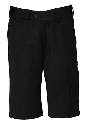 Biz Collection-Biz Collection Mens Detroit Short Regular-Black / 72-Uniform Wholesalers - 1