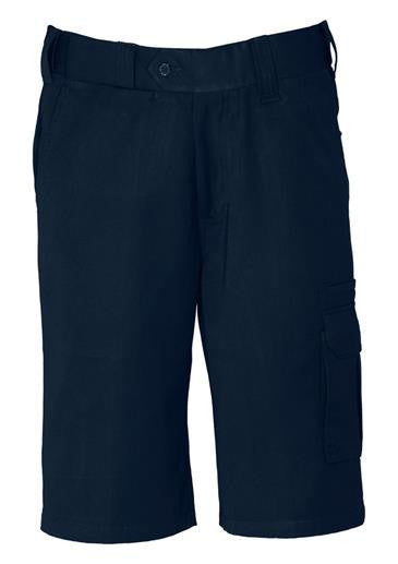 Biz Collection-Biz Collection Mens Detroit Short Regular-Navy / 72-Uniform Wholesalers - 2