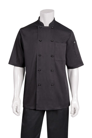 Chef Works-Chef Works Canberra Black S/S Basic Chef Jacket-XS / Black-Uniform Wholesalers