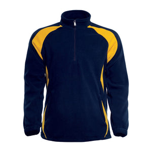 Bocini-Bocini 1/2 Zip Sports Pull Over-Navy/Gold / S-Uniform Wholesalers - 4