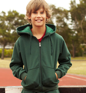 Bocini-Bocini Zip Through  Kids Fleece Hoodie--Uniform Wholesalers - 1