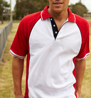 Bocini-Bocini Men's Panel Polo--Uniform Wholesalers - 1