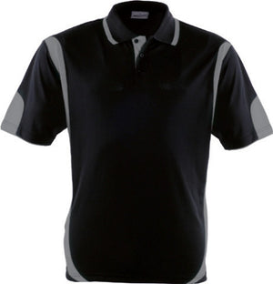 Bocini-Bocini Adults Breezeway Contrast Polo(1st 12 colors)-Black/Grey / S-Uniform Wholesalers - 6
