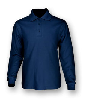 Bocini Plain Colour Poly Face Cotton Backing L/S Polo (CP1604)