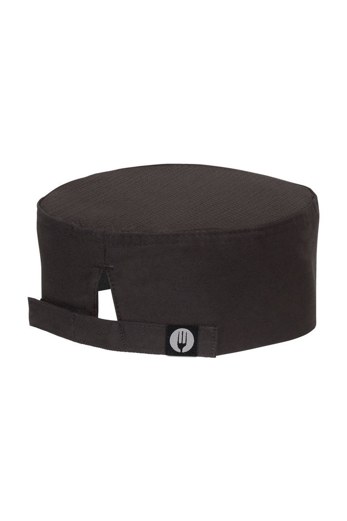 Chef Works-Chef Works Black Cool Vent Chef Beanie-One size / Black-Uniform Wholesalers