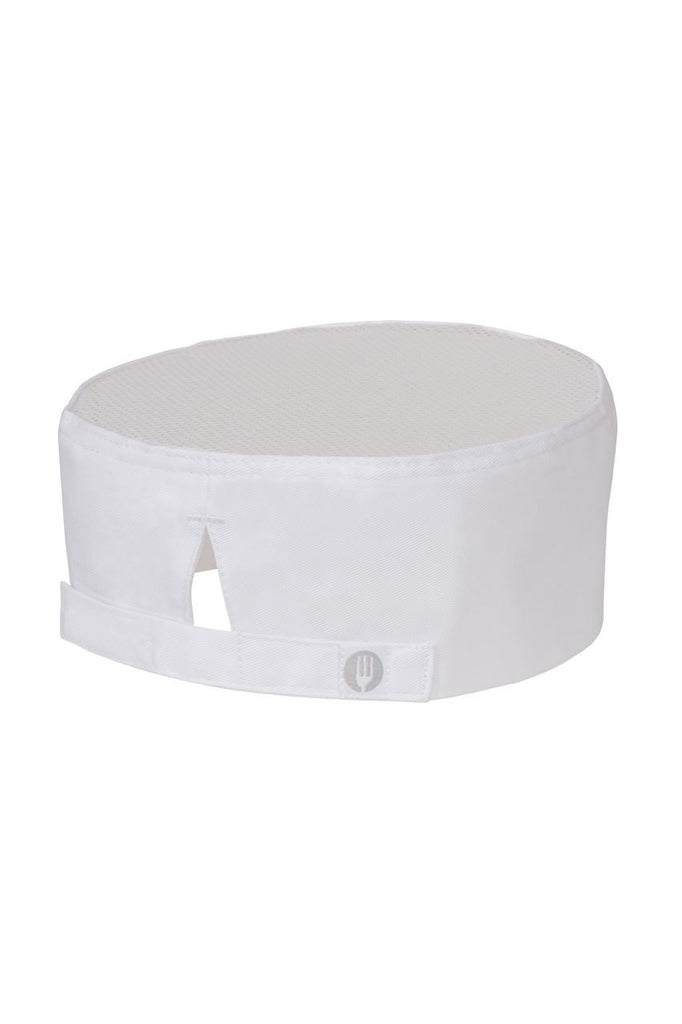 Chef Works-Chef Works White Cool Vent Chef Beanie--Uniform Wholesalers