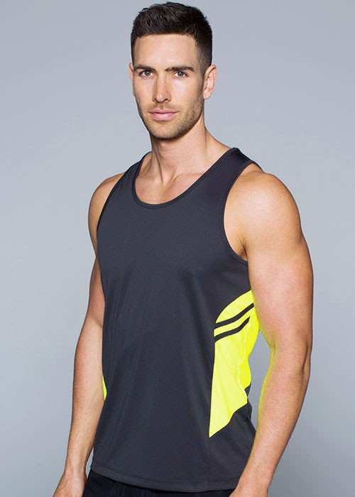 Aussie Pacific-Aussie Pacific Mens Tasman Singlet(3rd 8 color)--Uniform Wholesalers - 1