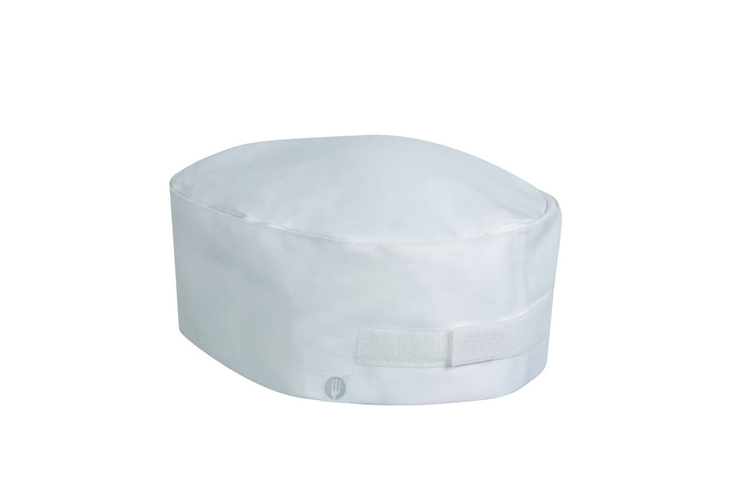 Chef Works-Chef Works  White Double Rimmed Beanie-One size / White-Uniform Wholesalers
