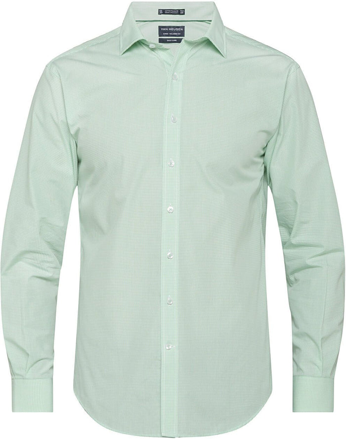 Van Heusen Men'S European Tailored Fit Shirt Cotton Polyester Yarn Dyed Check Easy Care (E169)