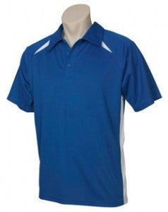 Biz Collection-Biz Collection  Mens Splice Polo 1st ( 10 Colour )-Fr.Blue/White / Small-Uniform Wholesalers - 1