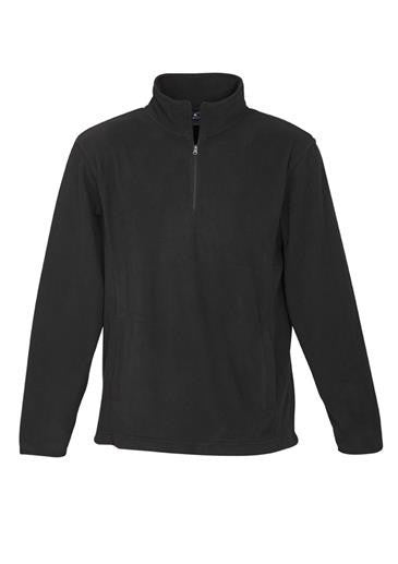 Biz Collection-Biz Collection Mens Trinity 1/2 Zip Pullover-Black / S-Uniform Wholesalers - 2