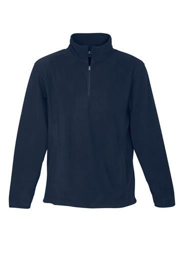 Biz Collection-Biz Collection Mens Trinity 1/2 Zip Pullover-Navy / S-Uniform Wholesalers - 3