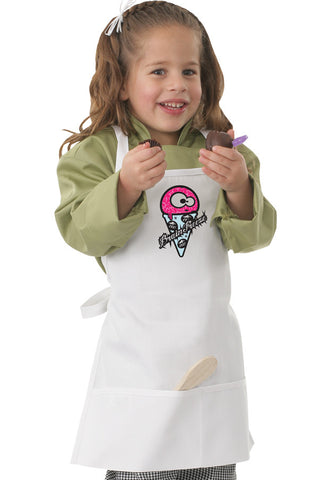 Chef Works-Chef Works Kids Bib Apron with Freeze Screen Print-47cm x 43cm / White-Uniform Wholesalers
