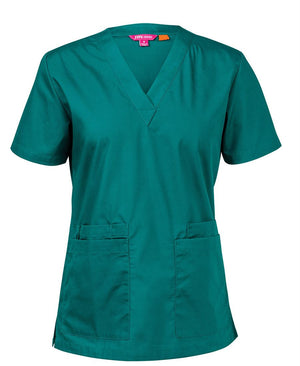 JB's Wear-JB's Ladies Scrubs Top-Green / 6-Uniform Wholesalers - 2