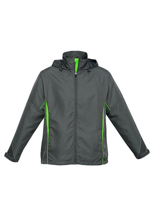 Biz Collection-Biz Collection Adults Razor Team Jacket-Grey/Fluoro Lime / XS-Uniform Wholesalers - 4