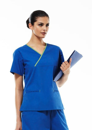 Biz Collection Ladies Crossover Scrub Top (H10722)-Clearance