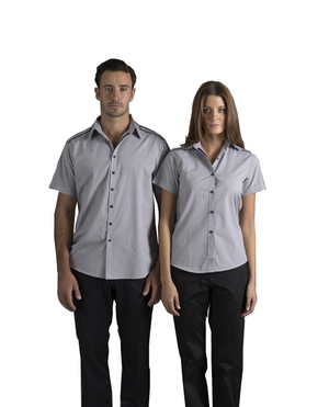 identitee-Identitee Mens Havana Short Sleeves--Uniform Wholesalers - 1