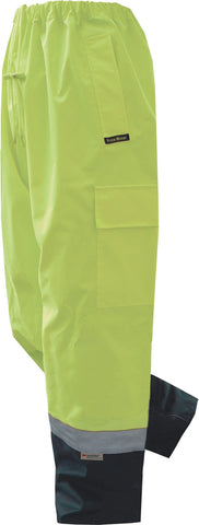 Prime Mover-Prime Mover Hi Vis Cargo Pant-Yellow/Navy / S-Uniform Wholesalers - 1