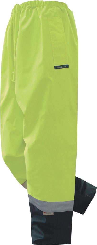 Prime Mover-Prime Mover Hi Vis  Pullon Pant-Yellow/Navy / S-Uniform Wholesalers - 1