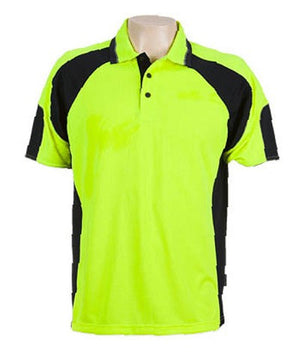 Australian Spirit-Aussie Kings Genelg Hiviz Polo-S / Hi Viz Yellow/Navy-Uniform Wholesalers - 3
