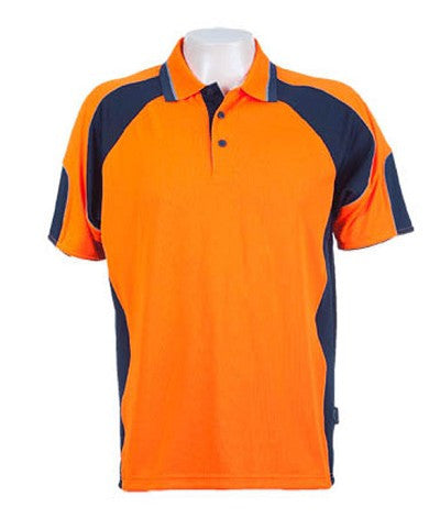Australian Spirit-Aussie Kings Genelg Hiviz Polo-S / Hi Viz Orange/Navy-Uniform Wholesalers - 2