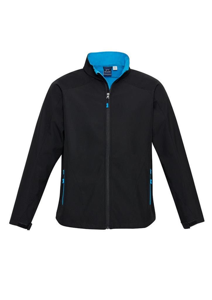 Biz Collection-Biz Collection Mens Geneva Jacket-Black/Cyan / S-Uniform Wholesalers - 2