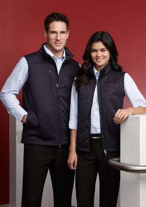 Biz Collection-Biz Collection Mens Soft Shell Vest--Uniform Wholesalers - 1