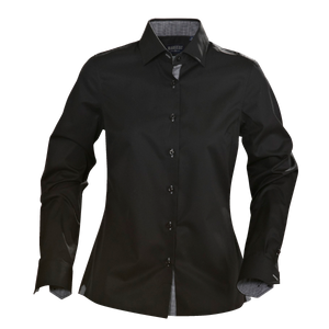 James Harvest-James Harvest Baltimore Ladies Shirts-8 / black-Uniform Wholesalers - 1