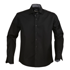 James Harvest-James Harvest Baltimore Gents Shirts-S / BLACK-Uniform Wholesalers - 1